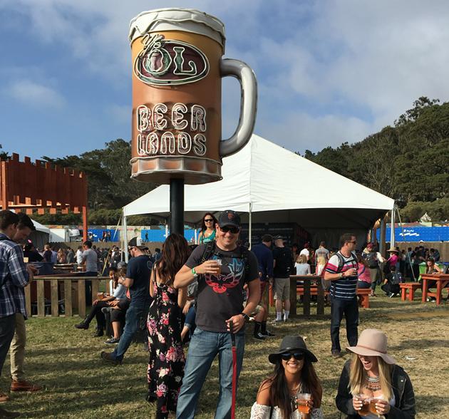 'Ye Ol' Beer Lands at Outside Lands 2015 - BRAD JAPHE