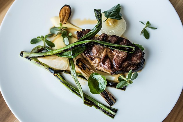 Slow-cooked lamb at Lord Stanley - MICHAEL ARES