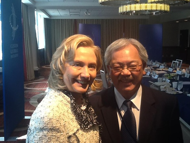 ed lee gives s f mayoral kiss of death to hillary clinton the snitch