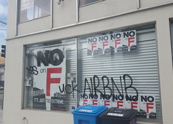 Branch office of 'No on F' vandalized, 'Fuck Airbnb'
