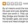 """Bring a Sweater, It Gets Chili"": Bad Yelp Reviews of the Golden Gate Bridge"