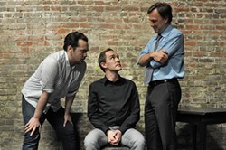 Tim Green, Justin Gillman, and Aaron Murphy in The Pillowman.