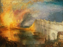 PHILADELPHIA MUSEUM OF ART /THE JOHN HOWARD MCFADDEN COLLECTION - Joseph Mallord William Turner's The Burning of the Houses of Lords and Commons, October 16, 1834.