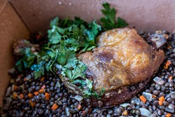 MICHAEL ARES - So tender it's a challenge to share, Belga's duck confit is a must.