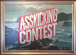COURTESY OF WAYNE WHITE - Asskicking Contest