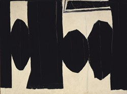COURTESY OF THE FINE ARTS MUSEUMS OF SAN FRANCISCO - At Five in the Afternoon, by Robert Motherwell.
