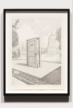 COURTESY OF CATHERINE CLARK GALLERY - Proposal for a Monument to Harvey Milk, by Sandow Birk.