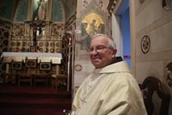 "NATASHA DANGOND - Father Guglielmo ""William"" Lauriola, who served as altar boy for a famous Franciscan saint."