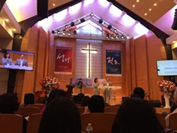 KATHLEEN RICHARDS - North Korean defectors, dignitaries and scholars spoke at Full Gospel San Francisco English Ministry church in the Western Addition on July 20.