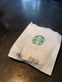 Tastelessness, Napkin-lessness, and Other Perils of Eating Barbecue at Starbucks