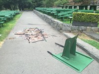 Someone Has Been Setting Fire to the Picnic Tables at Stern Grove
