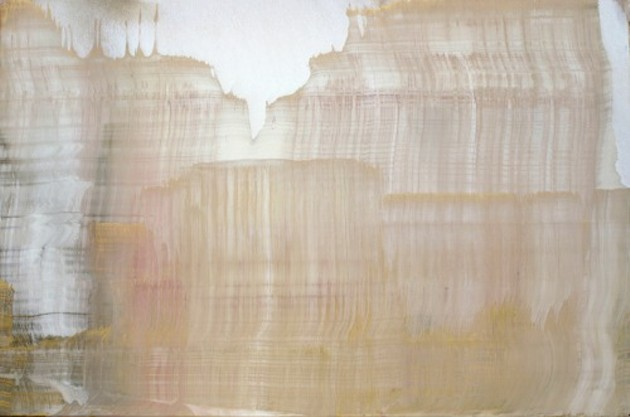Untitled. Oil and gold dust on linen. - MIRIAM CABESSA, THE DRYANSKY GALLERY
