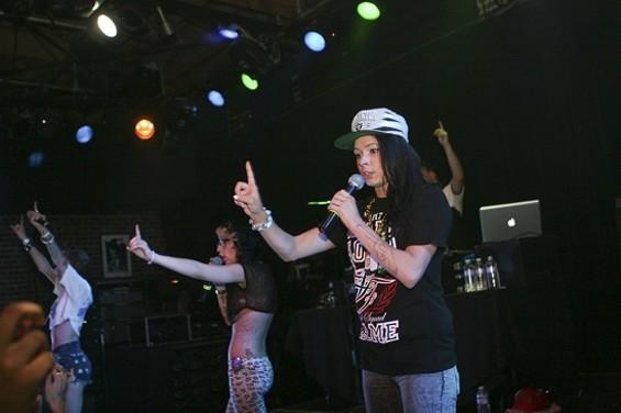 V-Nasty at Slim's last week. - CHRISTOPHER VICTORIO