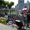 Bicyclists Pack City Hall -- No Spandex in Sight