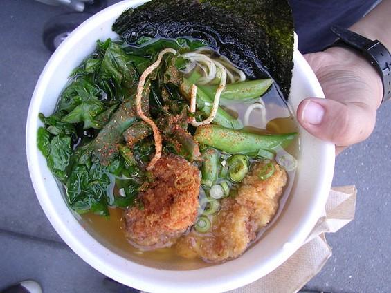Veggie bowl with chicken kara agae ($11.50). - JOHN BIRDSALL