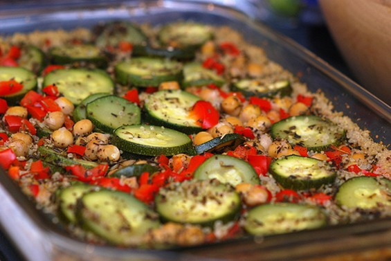 Veggie casserole, perfect for serving the masses. - VEGGIES VEGANS