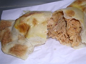 Venga's meal-size chicken empanada. - J. BIRDSALL