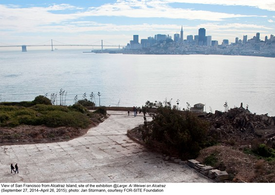View of San Francisco from Alcatraz - JAN STURMANN COURTESY OF FOR SITE FOUNDATION