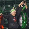 Adorable Great Grandmother Catches Foul Ball at Giants Game