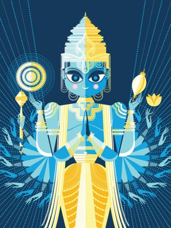 Vishnu, from The Big Poster Book of Hindu Deities - SANJAY PATEL