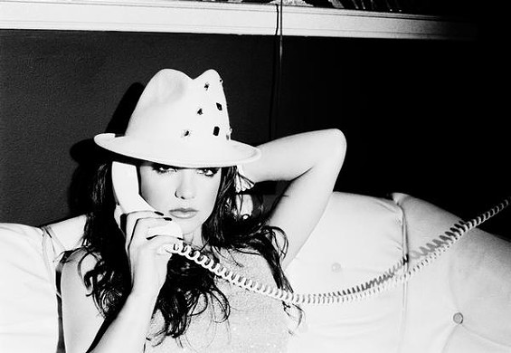 Wait. Britney ... telephone? We're confused. Anyway, she's coming to S.F. next month.
