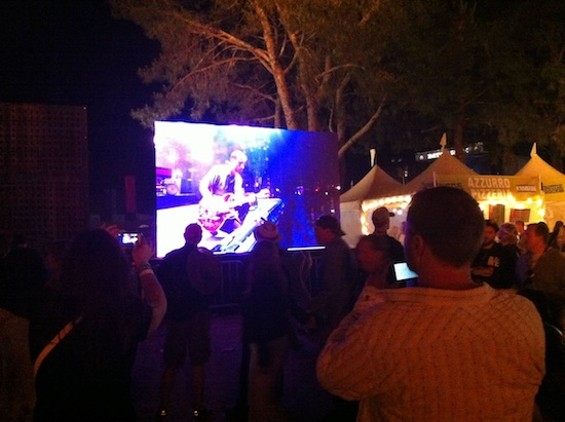 Watching the Black Keys on a screen at BottleRock 2013. The festival looks set to return this year.