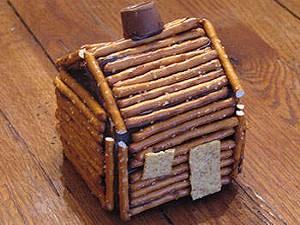 We endorse log cabins made of pretzels