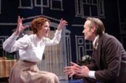 DAVID  ALLEN - What About My Needs: Hilda (Lauren Grace) and Solness (James Carpenter).