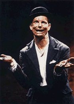 DIXIE  SHERIDAN - What, Me Worry? Bill Irwin uses his impressive body-talent to evoke each polished word.