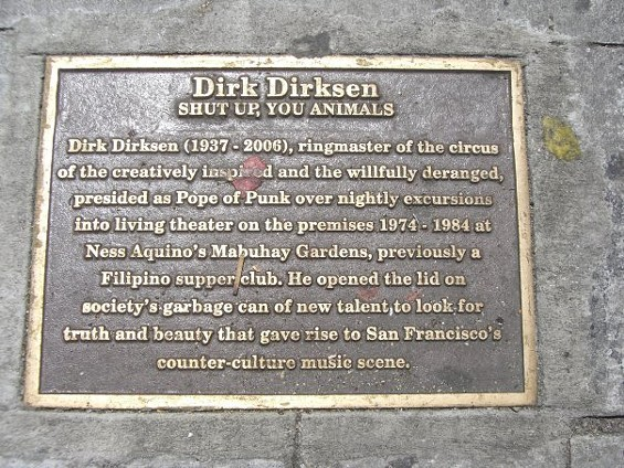Where's Kathy Peck standing? On Dirk Dirksen Place, naturally.