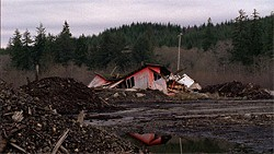 WYATT TROLL - Where's Kurt? This new documentary doesn't feature his likeness until the final scene. Here's some abandoned lumber mill near his hometown in Washington state!