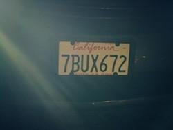 Whitemire's license plate - JAMES ALVA