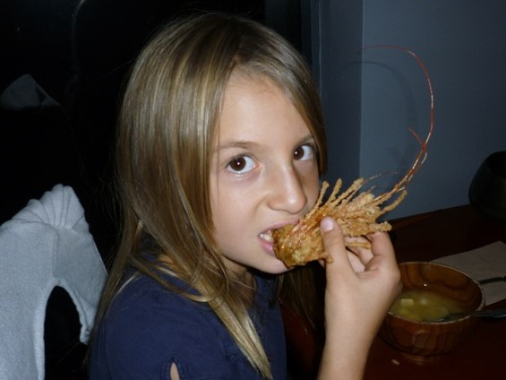 Who cares if she'll never earn an athletic scholarship? She eats shrimp heads, dammit! - ALEX HOCHMAN