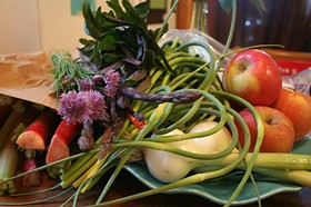 Who could be against veggies? A still life from the Dupont FreshFarm Market. - FOODIETOTS/FLICKR