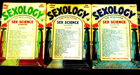 Who knew? A periodical called Sexoogy from the 1930s.