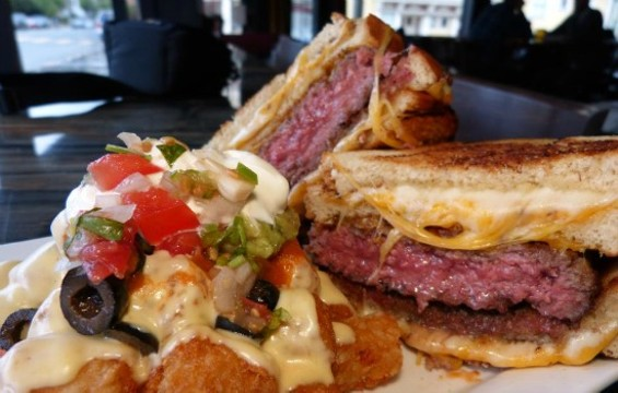 Wild Hare's Deluxe Burger: Two comfort foods for the price of one. - FACEBOOK/WILD HARE