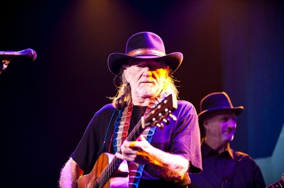 Willie Nelson at the Fillmore, January 2011. - RICHARD HAICK