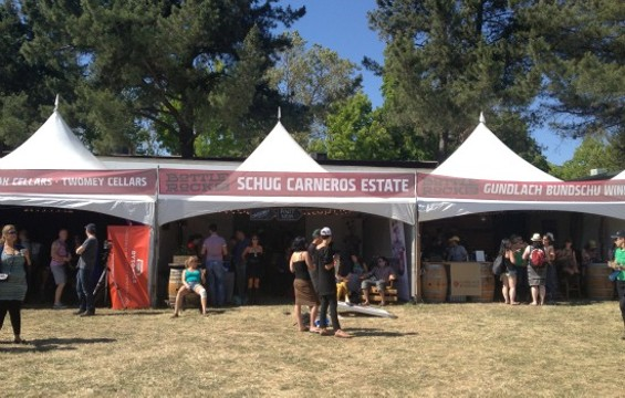 Wine tasting took place in tents near the main stages. - ANNA ROTH