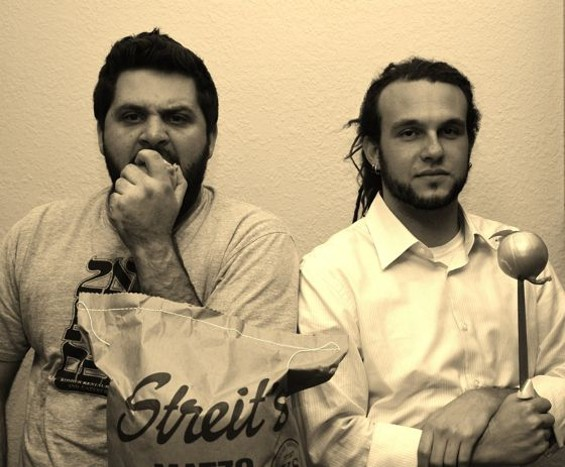 Wise guys: Evan Bloom, left, and Leo Beckerman. - MEGAN ROSE MARTIN