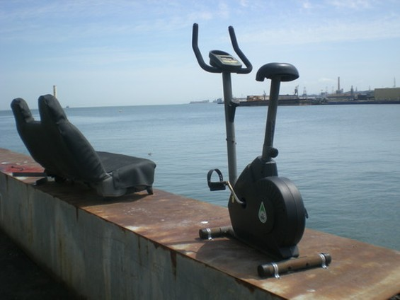 With a view like that, no Port employee has an excuse for being out of shape - JOE ESKENAZI
