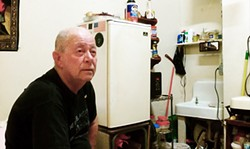 JOE ESKENAZI - With no kitchen in his room, Jim Ayers is in a Tenderloin restaurant most days — getting taxed.