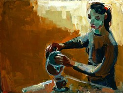 DAVID PARK - Woman with Coffeepot