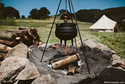 Wood grilling at the ready - COURTESY OF SHELTER CO.