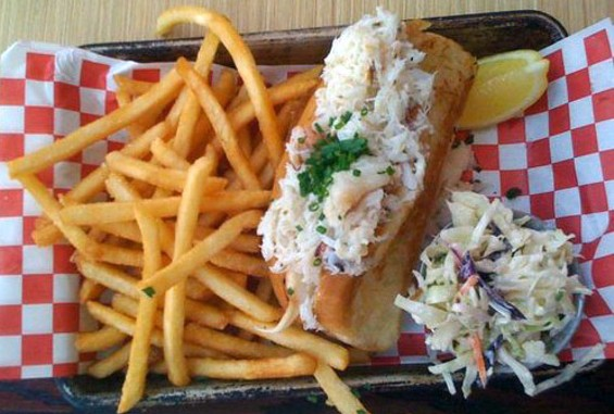 Woodhouse Fish Company's buttered crab roll, $15. - TAMARA L./YELP