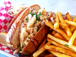Woodhouse Fish's crab melt: Worth the high price tag.