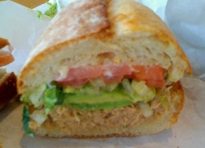 Wooly Pig's tuna sandwich, $8. - JONATHAN KAUFFMAN