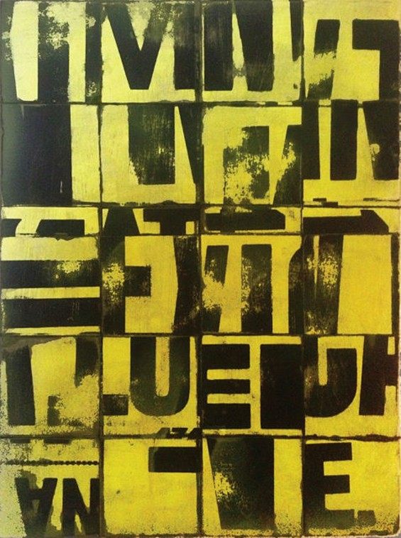 Yellow Grid No. 1 - JEFFREY THOMPSON