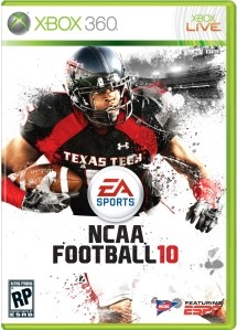 Yes, that is Michael Crabtree on the cover of NCAA Football