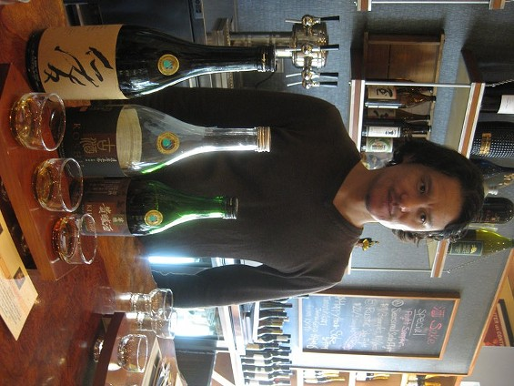 Yoshi Sako, sommelier at Corkage Sake and Wine Shop on Fulton. - ALASTAIR BLAND