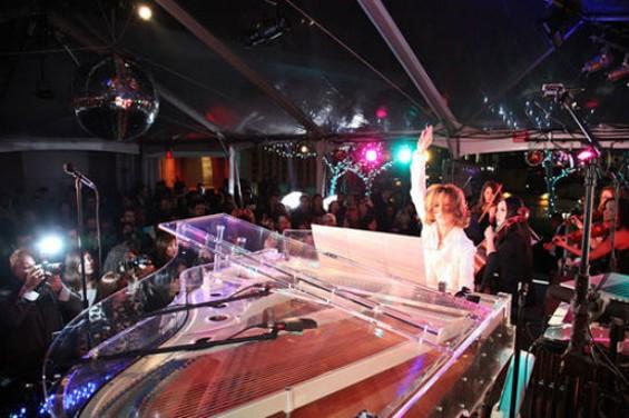 Yoshiki at the piano.